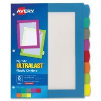 Avery&reg Big Tab Ultralast Plastic Dividers AVE24901