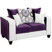 Flash Furniture Riverstone Implosion Purple Velvet Loveseat FHFRS412005LGG