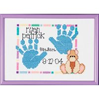 Janlynn Special Moments Baby Handprints Mini Counted Cross Stitch Kit NOTM264726