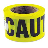 """Great Neck Caution Safety Tape, Non-Adhesive, 3"""" x 1000 ft GNS10379"""
