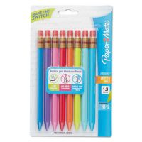 Paper Mate Mates Mechanical Pencils, 1.3 mm, Assorted, 8/Pack PAP1862168