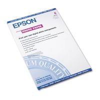 Epson Glossy Photo Paper, 60 lbs., Glossy, 11 x 17, 20 Sheets/Pack EPSS041156