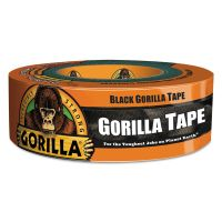 "Gorilla Glue Gorilla Tape, Extra-Thick, All-Weather Duct Tape, 1.88"" x 35yds, 3"" Core, Black GOR6035181"