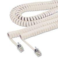 Softalk Coiled Phone Cord, Plug/Plug, 25 ft., Ivory SOF42265