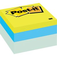 Post-it Notes Original Cubes, 3 x 3, Blue Wave, 470-Sheet MMM2056RC
