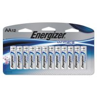 Energizer Ultimate Lithium Batteries, AA, 12/Pack EVEL91SBP12