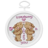 Janlynn Some Bunny Loves You Mini Counted Cross Stitch Kit NOTM405812