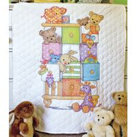 Dimensions Baby Hugs Baby Drawers Quilt Stamped Cross Stitch Kit NOTM423599