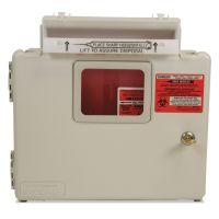 Covidien Locking Wall Mount Sharps Cabinet System, 5 qt, 13 x 5 x 13, Beige CVDSWMU000609