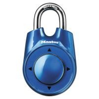 "Master Lock Speed Dial Set-Your-Own Combination Lock, 2"" Wide, Assorted MLK1500ID"
