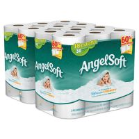 Angel Soft Double-Roll Bathroom Tissue, 2-Ply, White, 264 Sheets/Roll, 18/Pk, 2 Pks/Ct GPC7791702
