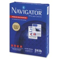 Navigator Premium Multipurpose Paper, 99 Brightness, 24 lb, 8 1/2 x 11, White, 5000/Carton SNANMP1124