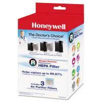 Honeywell Allergen Remover Replacement HEPA Filters, 3/Pack HWLHRFR3