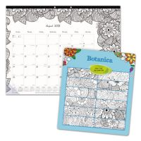Blueline Academic DoodlePlan Desk Pad Calendar w/Coloring Pages, 22 x 17 REDCA2917311