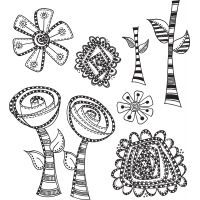 "Dyan Reaveley's Dylusions Cling Stamp Collections 8.5""X7"" NOTM205478"