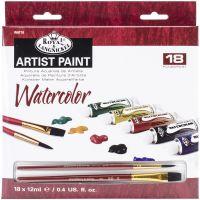 Essentials Watercolor Paints 12ml 18/Pkg NOTM458263
