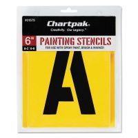 Chartpak Painting Stencil Set, A-Z Set/0-9, Manila, 35/Set CHA01575