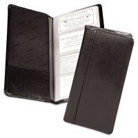Samsill Regal Leather Business Card File, 96 Card Cap, 2 x 3 1/2 Cards, Black SAM81240