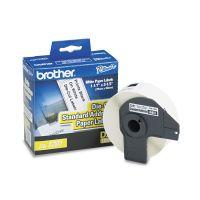 """Brother Die-Cut Address Labels, 1-1/10"""" x 3-1/2"""", White, 400/Roll BRTDK1201"""