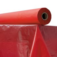"""Plastic Table Cover, 40"""" x 300 ft Roll, Red ATL2TCR300"""