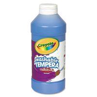 Crayola Artista II Washable Tempera Paint, Blue, 16 oz CYO543115042