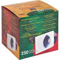 Compucessory CD/DVD White Window Envelopes CCS26501