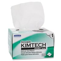 Kimtech* Kimwipes, Delicate Task Wipers, 1-Ply, 4 2/5 x 8 2/5, 280/Box KCC34155