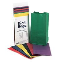 Pacon Rainbow Bags, 6# Uncoated Kraft Paper, 6 x 3 5/8 x 11, Assorted Bright, 28/Pack PAC72140
