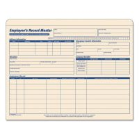 TOPS Employee Record Master File Jacket, 9 1/2 x 11 3/4, 10 Point Manila, 20/Pack TOP3280