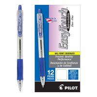 Pilot EasyTouch Retractable Ball Point Pen, Blue Ink, .7mm, Dozen PIL32211