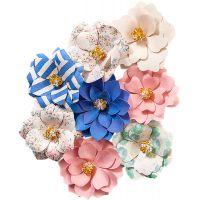 Santorini Mulberry Paper Flowers 8/Pkg NOTM467038