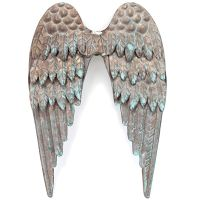 Salvaged Copper Patina Metal Angel's Wings NOTM202167