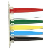 Unimed Status Flags, 6 Flags, Assorted Colors IMCI6PF169436