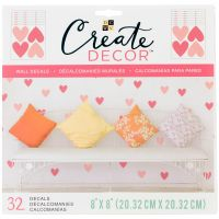 """DCWV Create Decor Removable Wall Decals 8""""X8"""" NOTM539775"""