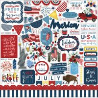 "Celebrate America Cardstock Stickers 12""X12"" NOTM337428"