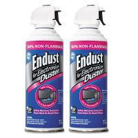 Endust Non-Flammable Duster with Bitterant, 10 oz, 2 Cans/Pack END248050