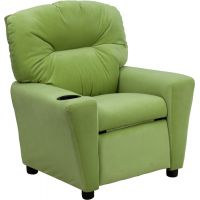 Flash Furniture Contemporary Avocado Microfiber Kids Recliner with Cup Holder FHFBT7950KIDMICAVOGG