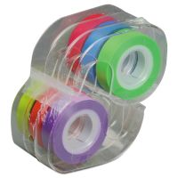 """LEE Removable Highlighter Tape, 1/2"""" X 720"""", Assorted, 6/PK LEE13888"""