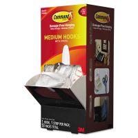 Command General Purpose Designer Hooks, Medium, 3lb Cap, White, 50 Hooks & Strips/Pack MMM17081CABPK