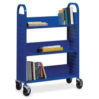 Lorell Single-sided Steel Book Cart LLR99934