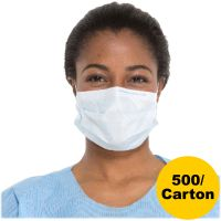Kimberly-Clark Professional* Procedure Mask, Pleat-Style w/Ear Loops, Blue, 500/Carton KCC47080
