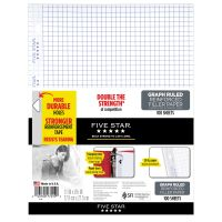 Five Star Reinforced Quad Ruled Loose Leaf Paper MEA17012