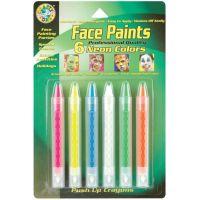 Face Paint Push-Up Crayons 6/Pkg NOTM317222