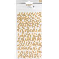 American Crafts Glitter Alphabet Stickers 265/Pkg NOTM430351