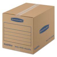Bankers Box SmoothMove Basic Small Moving Boxes, 16l x 12w x 12h, Kraft/Blue, 25/Bundle FEL7713801
