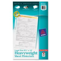 Avery Top-Load Polypropylene Sheet Protector, Legal, Heavy, Diamond Clear, 25/Pack AVE73897