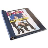 Angler's Catalog/Magazine Binder, 11 x 9 1/2, Clear Front, Navy Blue Back AVTANG120D