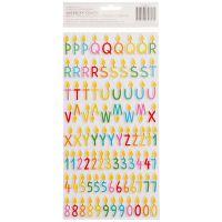 "Happy Hooray Thickers Stickers 5.5""X11"" 2/Pkg NOTM201790"