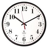 "Chicago Lighthouse Quartz Slimline Clock, 12-3/4"", Black ILC67300002"