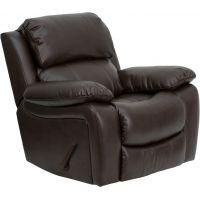 Flash Furniture Brown Leather Rocker Recliner [MEN-DA3439-91-BRN-GG] FHFMENDA343991BRNGG